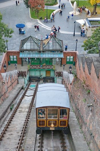Funicular in Budapest, Hungary