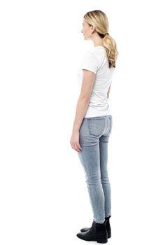 Young girl facing copyspace