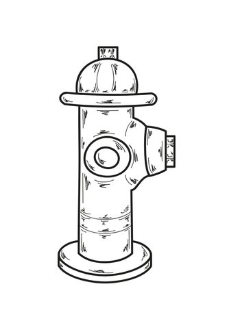 sketch, fire hydrant
