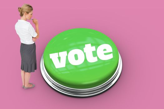 Vote against pink vignette