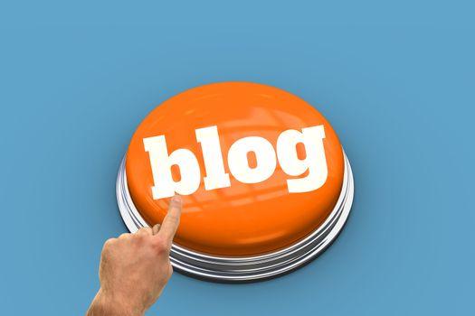 Blog against blue vignette
