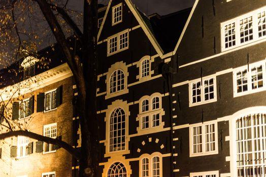 Amsterdam Facades At Night