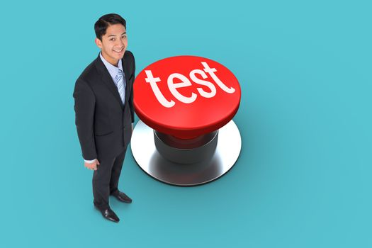 Test against blue vignette