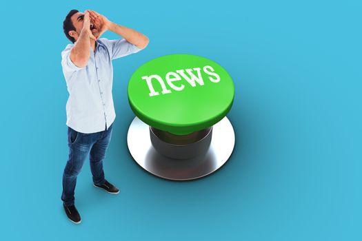 News against blue vignette