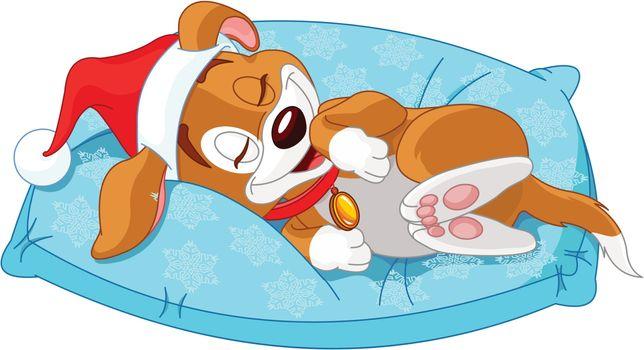 Cute Christmas doggy