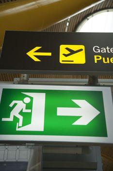 exit and departure signals
