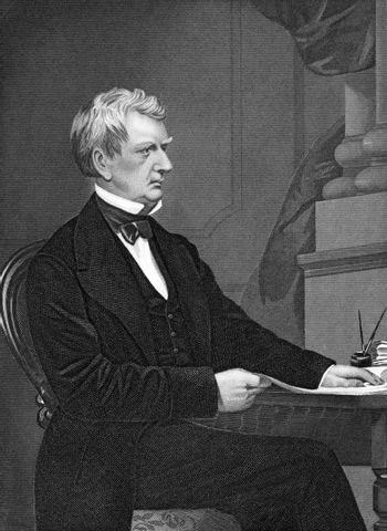 William Henry Seward (1801-1872) on engraving from 1873. American politician. Engraved by unknown artist and published in ''Portrait Gallery of Eminent Men and Women with Biographies'',USA,1873.