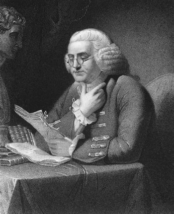 Benjamin Franklin (1706-1790) on engraving from 1835. One of the Founding Fathers of the United States. Engraved by T.B.Welch and published in ''National Portrait Gallery of Distinguished Americans Volume II'',USA,1835.