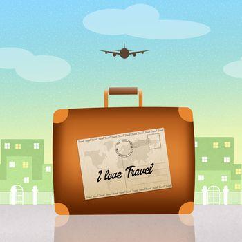illustration of traveling