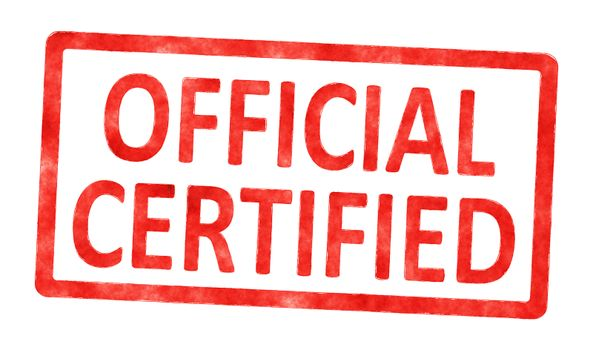 stamp official certified