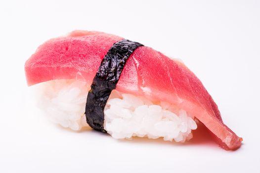 tuna fish sushi isolated on white background