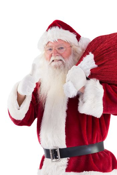 Santa likes to carry his sack