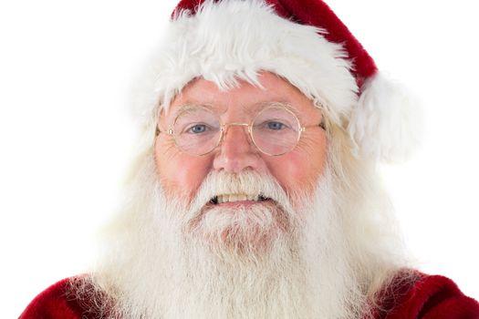 Santa smiles in the camera