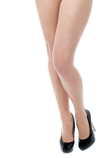 Woman long legs with smooth skin