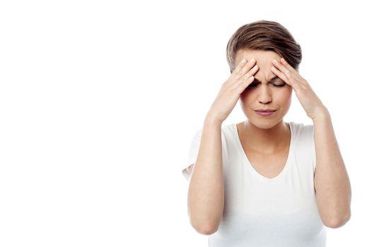 Feeling awful, I am having headache.
