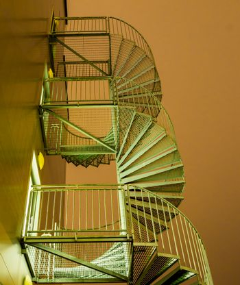 Spiral stairs against the night sky