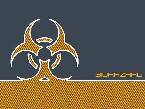 Bio hazard warning background