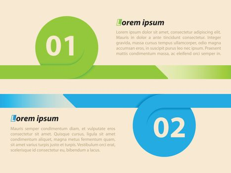 Curling ribbon infographic template