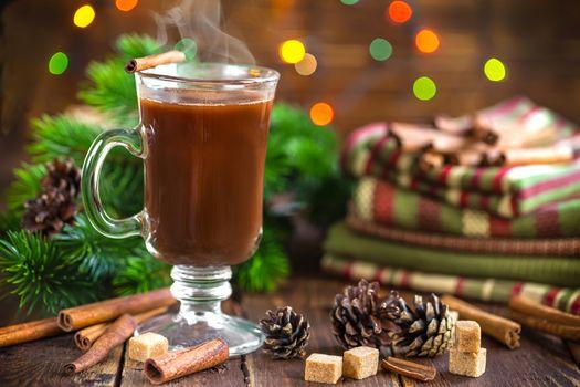 Christmas cocoa drink