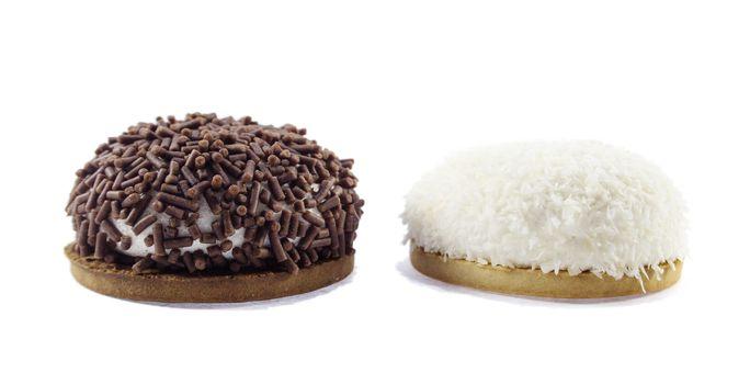 Brazilian sweet, BRIGADEIRO isolated on white