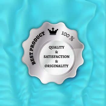 silver best product stamp