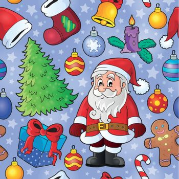 Christmas seamless background 9 - eps10 vector illustration.