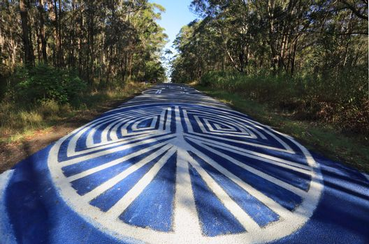 Peace Odyssey - Grafitti signs of peace Seal Rocks NSW