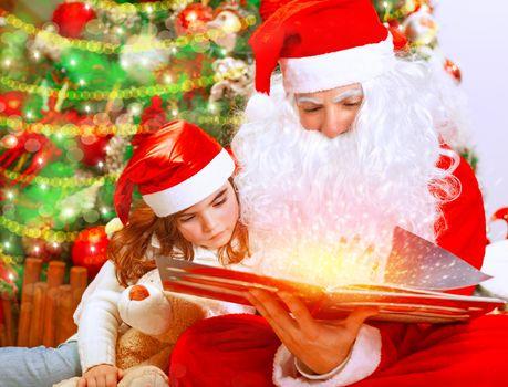 Christmas eve with Santa Claus