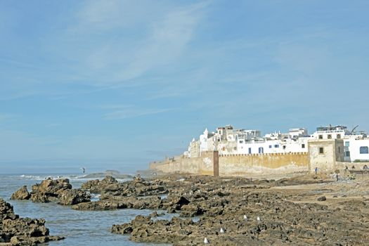 View on Essaouria,  the most popular Atlantic coast city in Moro