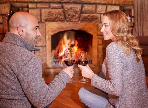 Happy romantic date