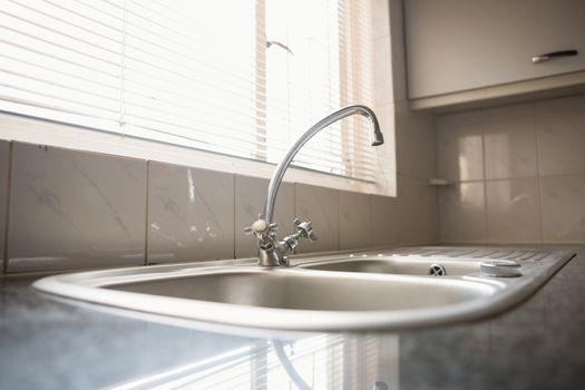 Brushed steel sink