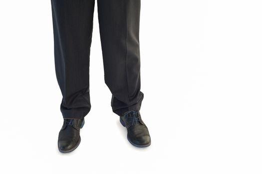 Businessmans legs and dress shoes