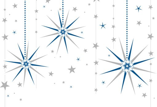 Winter Holidays Background in Two Colors Without Gradient, Copyspace for Greeting