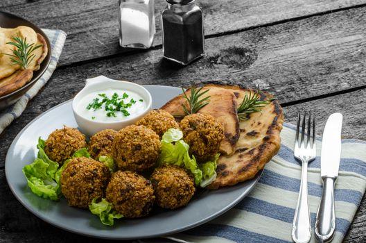 Health crunchy falafel