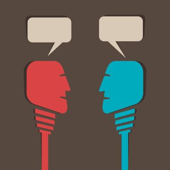 two men communicate