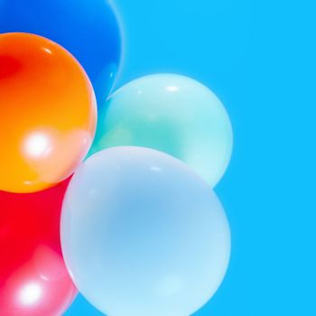 balloons on the sky background