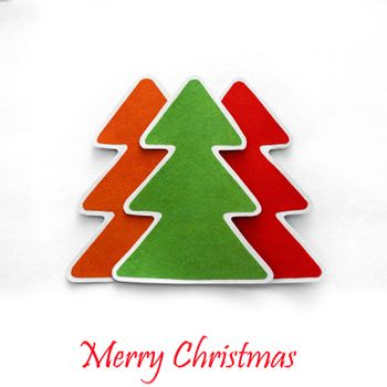 Christmas tree made paper for text