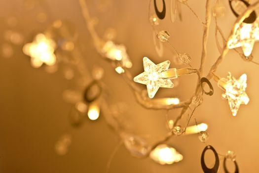 Christmas lights with stars