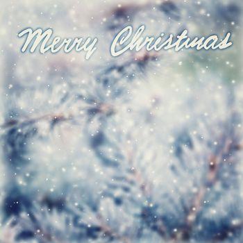 Vintage Christmas greeting card background