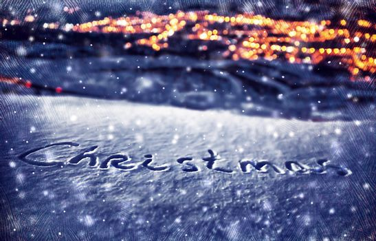 Snowy Christmas background