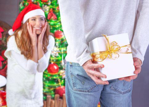 Enjoying Christmas gift