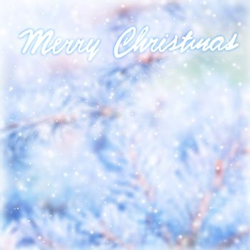 Marry Christmas blur greeting card
