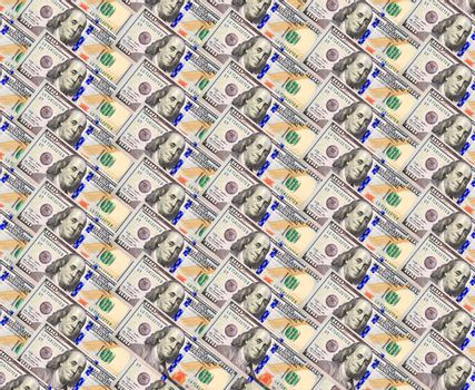 background from hundred dollar bank notes