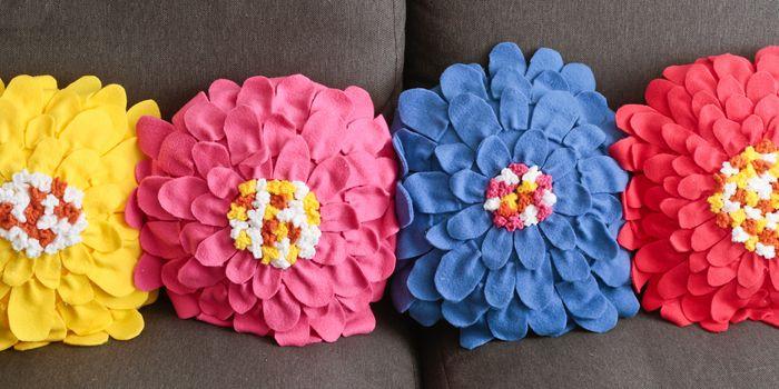 Floral cushions