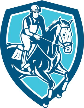 Equestrian Show Jumping Shield Retro
