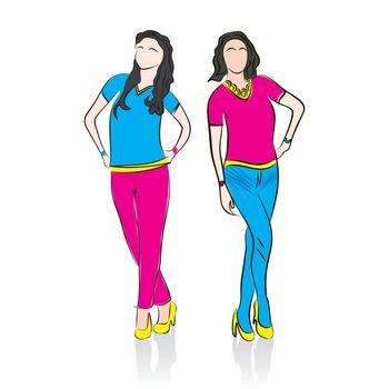 fashion model in ramp design