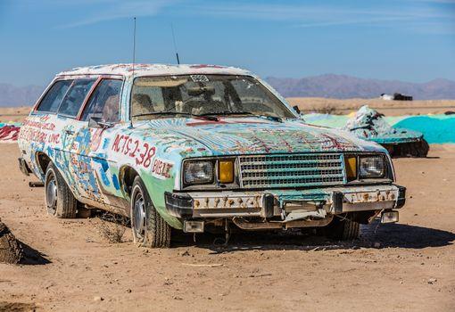 Bible Car Art Installation
