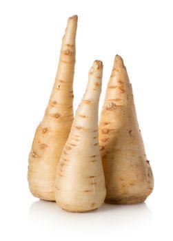 Three parsley roots