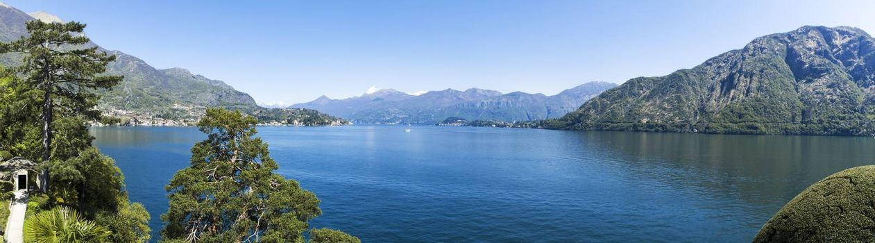 Landscape on the Como Lake in spring season, Lombardy - Italy