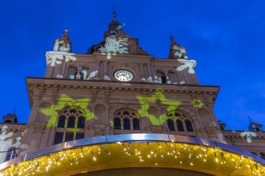 Graz city hall at Night